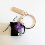 Брелок для ключей питчер черный с цветком